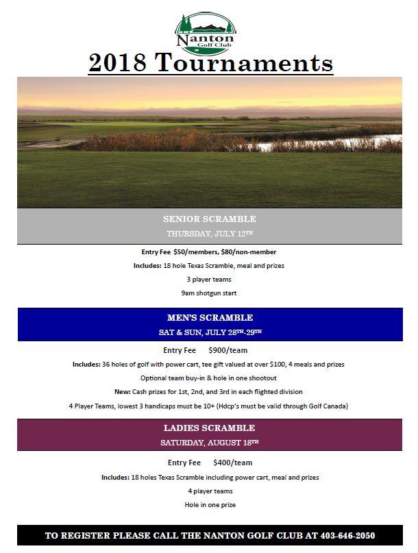 Member Tournaments Poster
