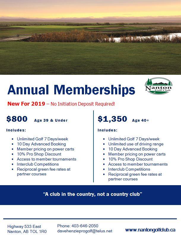 Annual Memberships Advertisement