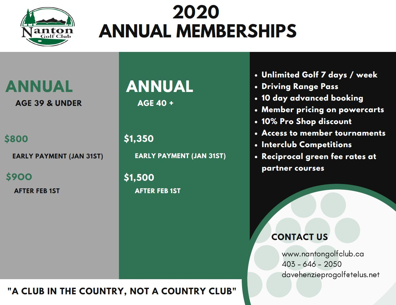 2020 Annual Memberships