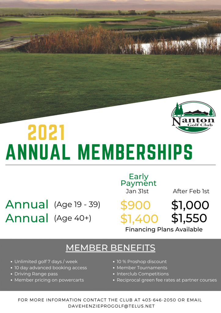 2021 Annual Memberships